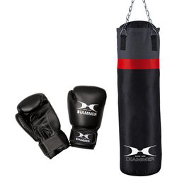 Hammer Boxsack Cobra (Set, mit Boxhandschuhen)