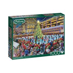 Falcon Puzzle 11342 Marcello Corti Die Eisbahn 1000 Teile Puzzle, 1000 Puzzleteile bunt