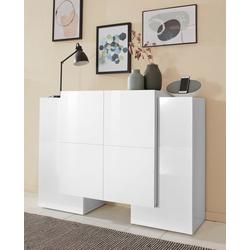 Tecnos Sideboard Pillon, Breite 130 cm weiß