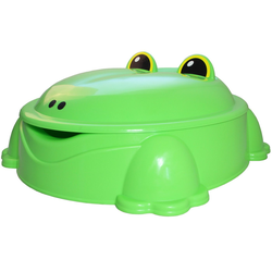 ONDIS24 Sandkasten Sandkasten mit Deckel Planschbecken Freddy der Frosch