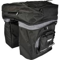 Fischer Gepäckträgertasche 3-fach schwarz