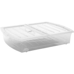 KIS Spinning Box Unterbettbox XL, Unterbettbox mit Rollen, Farbe: transparent
