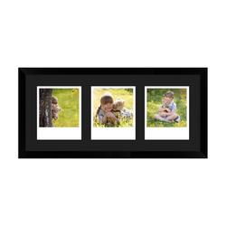 FrameDesign Mende Bilderrahmen Bilderrahmen H950, für 3 Bilder, im Polaroid Format weiß