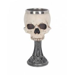 Horror-Shop Geschirr-Set Totenkopf Kelch Design by Anne Stokes Skull Chalic, Polyresin / Edelstahl