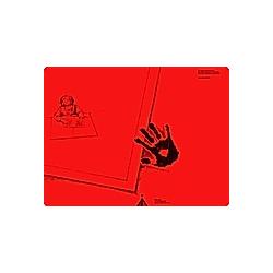 Schreibtisch-Auflage für Linkshänder  pop-rot