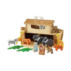 EverEarth® Spielfigur Große Arche Noah mit 16 Holzfiguren