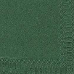 DUNI Servietten 33x33cm dunkelgrün 3 lagig 1/4 Falz 20 Stück