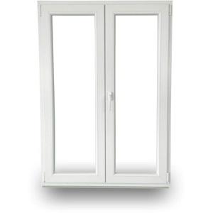 JeCo Balkontür Terrassentür Kunststoff Stulptür - 70mm Tiefe - 3-Fach-Verglasung 2 flügelig - BxH: 2000x2000mm DIN Rechts - Sondermaße möglich