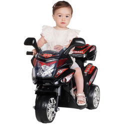 Actionbikes Motors Elektro-Kinderdreirad Kinder Elektroauto C051, Belastbarkeit 25 kg, Elektro Motorrad / Auto / Dreirad bis zu 3km/h schwarz