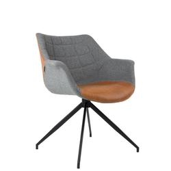 Zuiver Schalenstuhl DOULTON Stuhl von ZUIVER Esszimmerstuhl in Vintage Brown