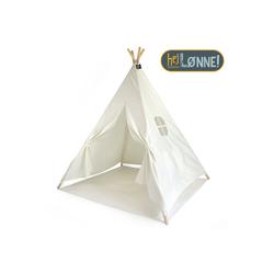Hej Lønne Tipi-Zelt Tipi Zelt für Kinder weiß einfarbig Indianerzelt