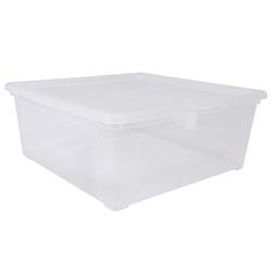 ONDIS24 Aufbewahrungsbox Utensilienbox Schuhbox Aufbewahrungsbox Lagerbox Allzweckbox Easy L transparent