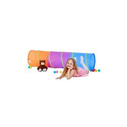 relaxdays Spieltunnel Farbenfroher Spieltunnel für Kinder