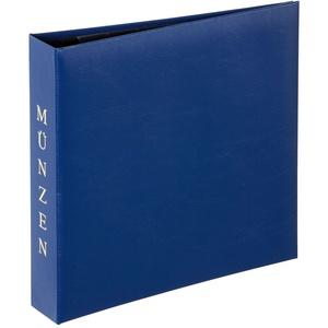 Pagna Münzalbum (inkl. Zwei Münzhüllen, 4D) blau