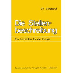 Die Stellenbeschreibung als Buch von Wolfgang Wrabetz