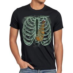 style3 Print-Shirt Herren T-Shirt Bierflasche X-Ray hopfen malz papa röntgen M