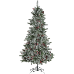 Home affaire Künstlicher Weihnachtsbaum, beschneite Äste, Tannenzapfen und Beeren Ø 68 cm x 120 cm