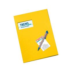 memo Angebotsmappe gelb 350 g/m² m.F. 21 x 30 cm