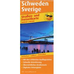 Schweden Sverige 1:900.000