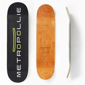 Metropollie Schwarzes Skateboard, Skateboard für Kinder, Mädchen, Jugendliche, Erwachsene, Anfängerbrett, 7-lagig, 100 % kanadisches Ahornholz, Hard Rock