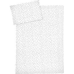 Kinderbettwäsche Dots grau, Zöllner, mit Punkten 1 St. x 80 cm x 80 cm