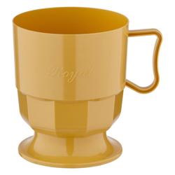 Royal Cup Henkeltasse Kaffeetasse 0,2l | 200ml beige PS, 12 Stk.