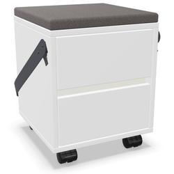 Palmberg Rollcontainer ORGA PLUS Sitzhocker FIFFI in Weiß