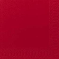 DUNI Servietten, 40 x 40 cm, 3-lagig, 1/4 Falz, 1 Karton = 4 x 250 Stück = 1.000 Stück, rot