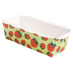 6x XL-Backform Erdbeere backfest fettdicht 170x53x55 mm