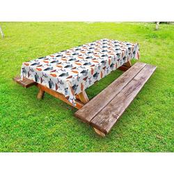 Abakuhaus Tischdecke dekorative waschbare Picknick-Tischdecke, Aquarium Süßwasserfischart 145 cm x 305 cm