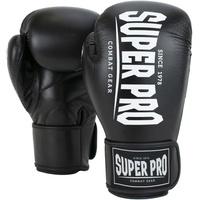 Super Pro Boxhandschuhe schwarz 10