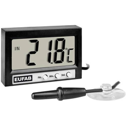 Eufab 27137 Thermometer Innen-/Außentemperatur, 12/24h-Anzeige -50 bis +70°C
