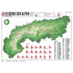 111 Alpenberge 1 : 1 200 000