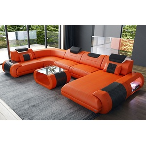 Sofa Dreams Wohnlandschaft Rimini, U Form orange