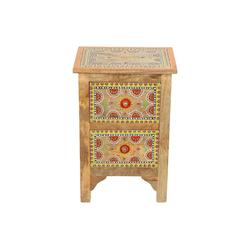 Casa Moro Kommode Orientalische handbemalte Kommode Jivan 40x30x60 cm (Breite/Tiefe/Höhe), RK45-60 (1-St) Handbemalt und mit kleinen Steinchen verziert