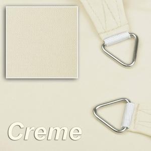 hanSe® Marken Sonnensegel Sonnenschutz Wetterschutz Wetterbeständig 100% Polyester wasserabweisend Rechteck 2x3 m Creme
