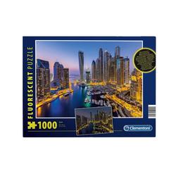 Clementoni® Puzzle Clementoni 97701 - Fluorescent-Puzzle - Dubai, 1000 Teile, leutet im Dunkeln, 1000 Puzzleteile
