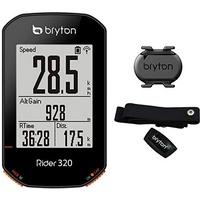 Bryton Rider 320 T Fahrradcomputer mit Kadenz- und Herzfrequenzsensor black 2021 Computer drahtlos
