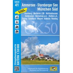 Ammersee Starnberger See München-Süd 1 : 50 000 (UK50-41)