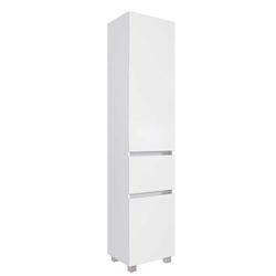Badezimmer Schrank in Weiß 185 cm hoch