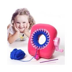 Plastic Weaving Loom Sewing Tools DIY Hand Knitting Machine Weaving Loom for Scarf Hat Kids Pretend Play Toys