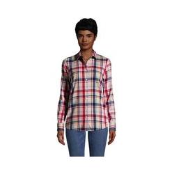 Boyfriend-Bluse aus Flanell - L - Weiß
