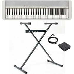 CASIO Keyboard Piano-Keyboard-Set CT-S1WESET, (Set, inkl. Keyboardständer, Sustainpedal und Netzteil), ideal für Piano-Einsteiger und Klanggourmets;