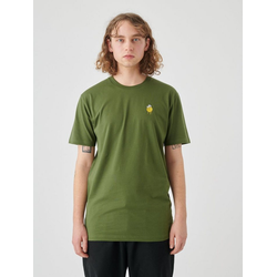 Cleptomanicx T-Shirt Zitrone Zitrone-Stickerei auf der Brust grün L