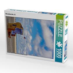 Strandkorb No. 32 Lege-Größe 48 x 64 cm Foto-Puzzle Bild von Angela Dölling, AD DESIGN Photo + PhotoArt Puzzle