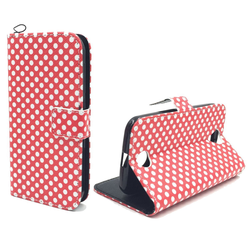 Handyhülle Tasche für Handy Acer Liquid Z330 Polka Dot Rot