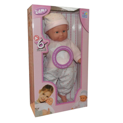 Happy People Babypuppe, Happy People Babypuppe 40cm Puppe Funktion Sound Baby Puppe Spielzeug Mädchen