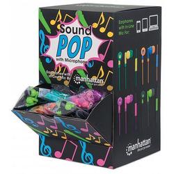 MANHATTAN SoundPOP Thekendisplay für in-Ear-Kopfhörer mit integriertem Mikrofon 178983