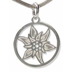 Adelia´s Kettenanhänger Edelweiss Anhänger 925 Silber