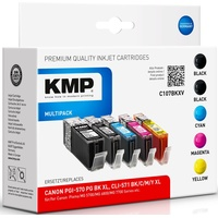 KMP C107BKXV kompatibel zu Canon PGI-570XL schwarz + CLI-571XL CMYK (1569,0050)